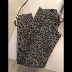 Denim - Animal print jeans